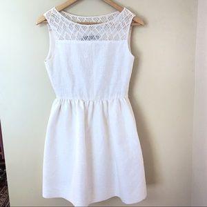 ZARA Woman Creme A-Line Sleeveless Lace Dress